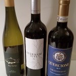 My Karp Riesling, Eternum Viti, and Quercione Chianti wines