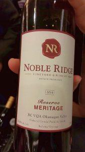 Noble Ridge Vineyard & Winery Meritage Reserve 2014