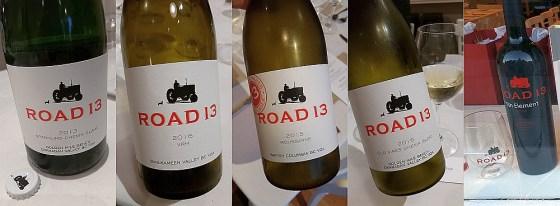 Road 13 Sparkling Chenin Blanc, VRM, Roussanne, Old Vines Chenin Blanc, and 5th Element