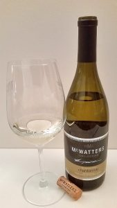 McWatters Collection Chardonnay with wine in glass