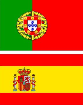 portugal and spain flags mywinepal