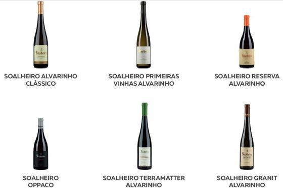Quinta de Soalheiro flight of wines 1