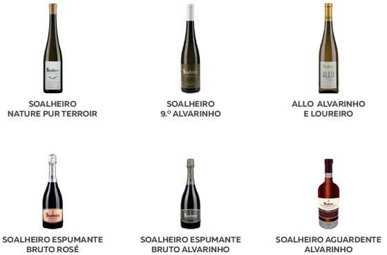 Quinta de Soalheiro flight of wines