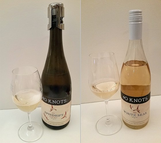 40 Knots Spindrift Extra Brut 2014 and White Seas 2016