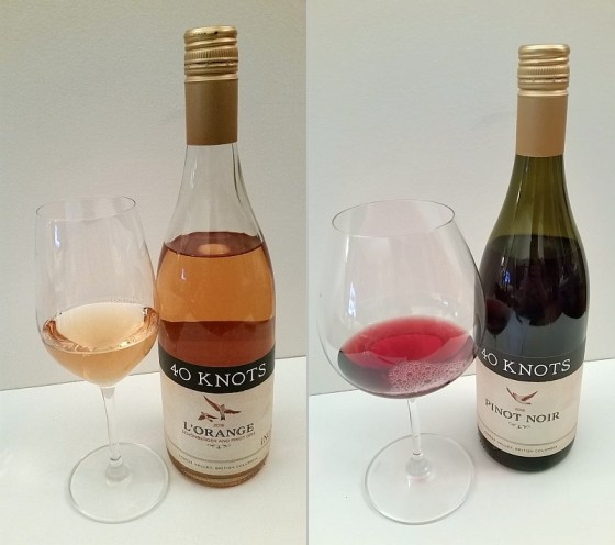 40 Knots l'Orange 2016 and Pinot Noir 2016