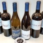 Upper Bench Winery's latest wine and Grey Baby cheese