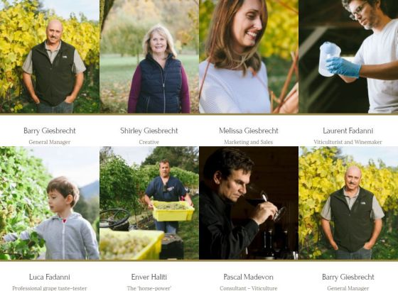 The Whispering Horse Winery team