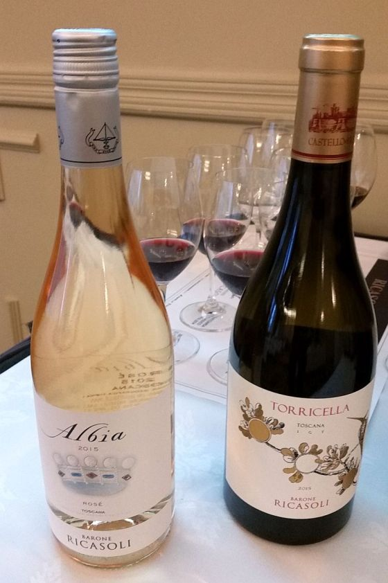 Barone Ricasoli Albia Rose and Torricella Chardonnay