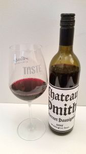 Charles Smith Cabernet Sauvignon 2015 with wine in glass