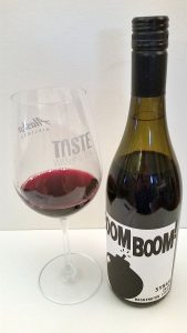 Charles Smith Wines Boom Boom! Syrah2015 with wine in glass