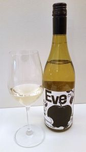 Charles Smith Wines Eve Chardonnay 2015 with wine in glass