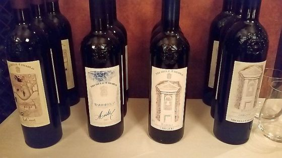 Our Pre-Dinner Wine Tasting of Michele Chiarlo Nizza, Barbaresco, and Barolo DOCG wines