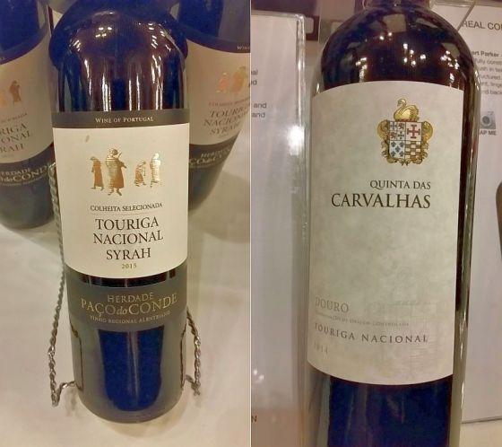 Herdade Paco do Conde Touriga Nacional - Syrah and Real Companhia Velha Quinta das Carvalhas Touriga Nacional wines