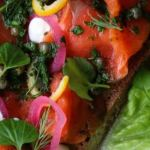 Open faced smoked salmon sandwich from Farmers Apprentice (Image courtesy Farmer's Apprentice)