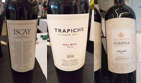 Trapiche Iscay Malbec - Cabernet Franc, Trapiche TTSM Finca Ambrosia Malbec, and Bodegas Salentein Numina Gran Corte
