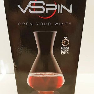 vSpin decanter in box