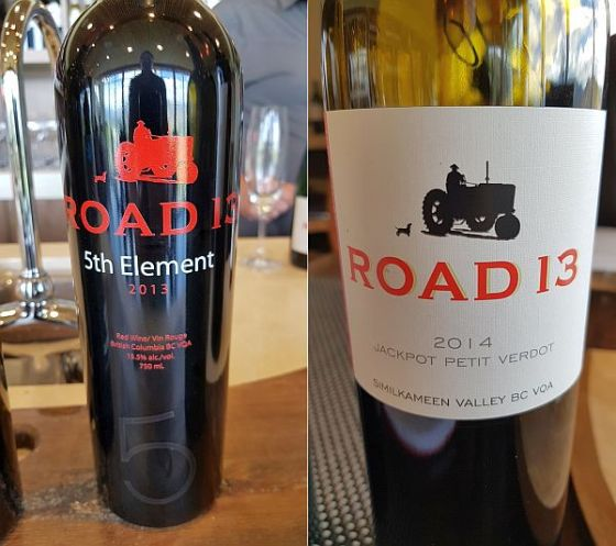 Road 13 5th Element and Jackpot Petit Verdot wines