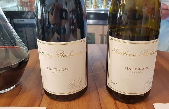 Anthony Buchanan Pinot Noir and Pinot Blanc wines