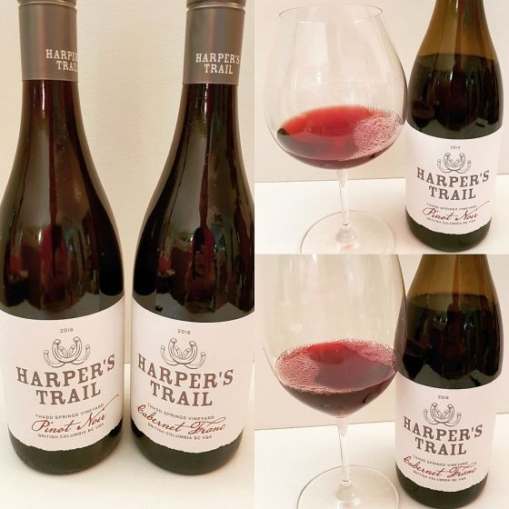 Harper's Trail Pinot Noir and Cabernet Franc wines
