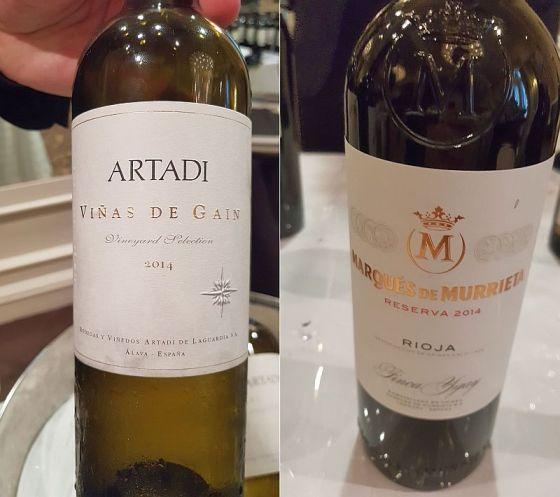 Artadi Vinas de Gain White 2016 and Marques de Murrieta Reserva Rioja Tinto 2014