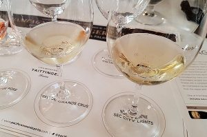 Champagne Taittinger Prelude Grands Crus and Nocturne Sec City Lights