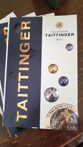 Champagne Taittinger folder