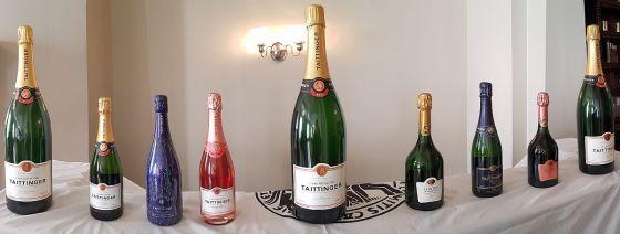 Champagne Taittinger lineup