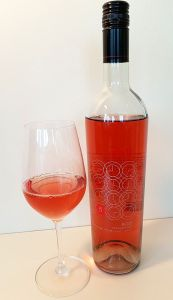 Time Winery Rose 2017 with wine in glass
