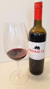 Road 13 Seventy-Four K 2017 with wine in the glass