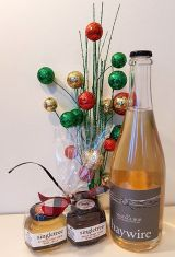 Singletree Citrus Pinot Gris and Spicy Pinot Noir wine jellies and Haywire Vintage Bub 2013