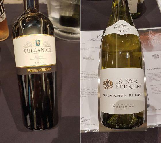 Paternoster Vulcanico Falanghina and La Petite Perrierre Sauvignon Blanc wines