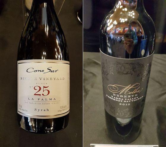 Cono Sur Vineyards & Winery Single Vineyard Block No. 25 La Palma Syrah 2017 and De Bortoli Wines Melba Lucia Reserve 2015 wines at VanWineFest 2019