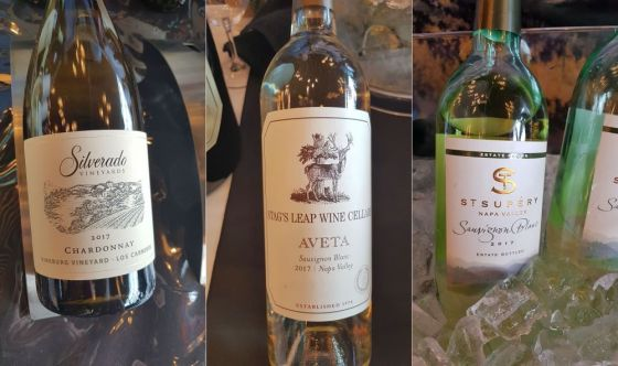 Silverado Vineyards Estate Grown Vineburg Chardonnay 2017,Stag's Leap Wine Cellars Aveta Napa Valley Sauvignon Blanc, and St Supery Estate Vineyards and Winery Napa Valley Estate Sauvignon Blanc at VanWineFest 2019
