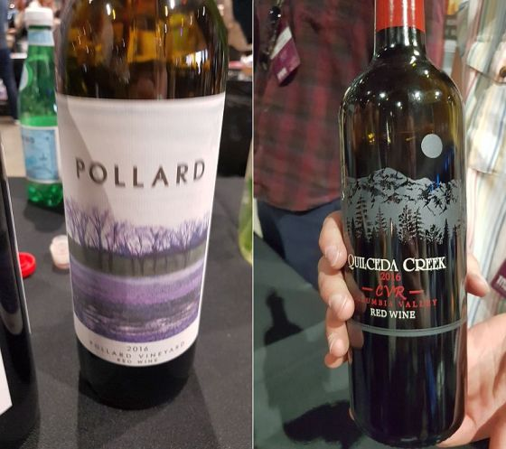 Pollard Vineyard Red Blend and Quilceda Creek CVR Red Blend wines at Taste WA