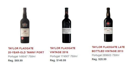TAYLOR FLADGATE VINTAGE 2016 and TAYLOR FLADGATE LATE BOTTLED VINTAGE 2013