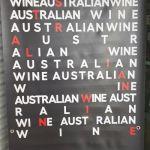 Australian wine sign