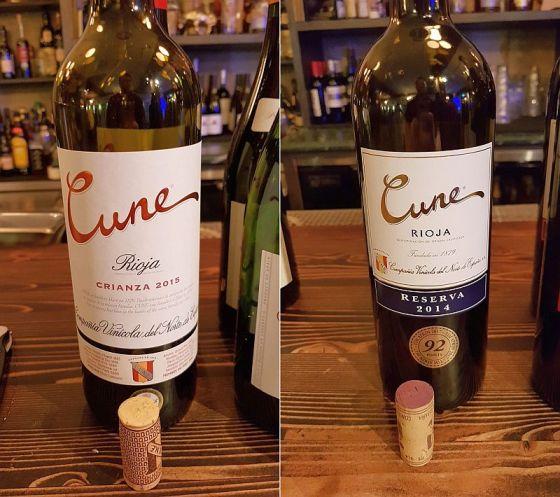 CUNE Crianza 2015 and CUNE Reserva 2014 wines