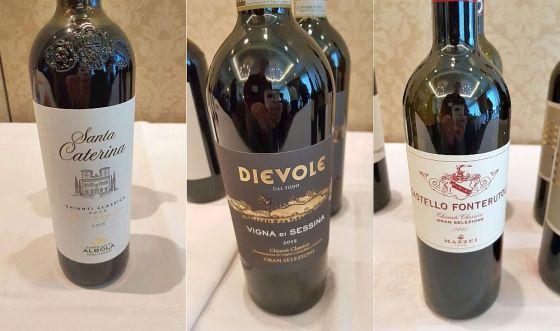 Castello di Albola, Rocca delle Macie, and Castello di Fonterutoli Chianti Classico DOCG Gran Selezione 2015 wines