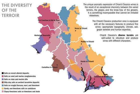 Chianti Classico soils map