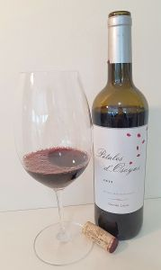 Osoyoos Larose Petales d'Osoyoos 2015 with wine in the glass