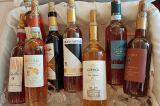 Vin Santo bottles on ice