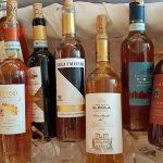Vin Santo bottles on ice