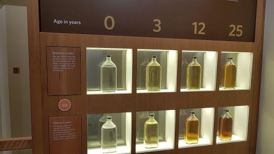 How Scotch whisky ages based on type of cask. At the Scotch Whisky Experience