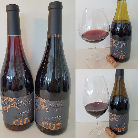 Winemaker's CUT Pinot Noir 2018 and Syrah 2017 wines