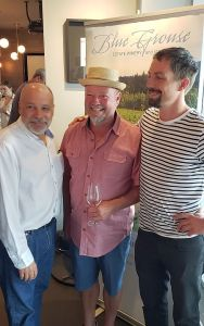 Blue Grouse Winery's Paul Bailey and Michael left to right