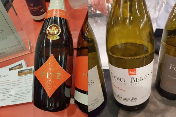 Fitzpatrick Family Vineyards Fitz Brut 2015 and Fort Berens Estate Winery Chardonnay 2018