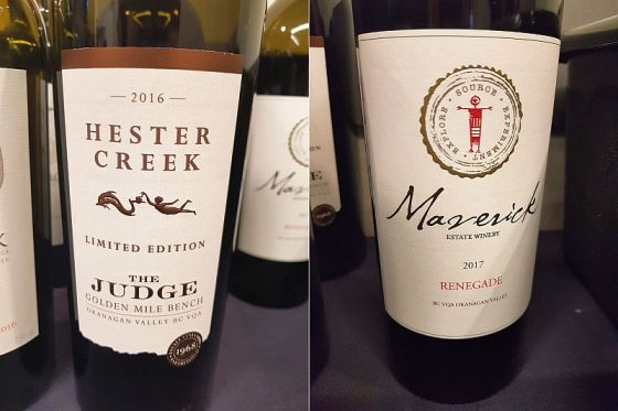 Hester Creek Estate Winery The Judge 2016 and Maverick Estate Winery Renegade 2017
