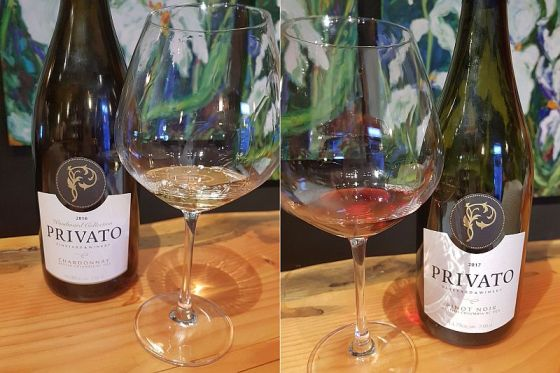 Privato Woodward Collection Chardonnay 2016 and Pinot Noir 2017