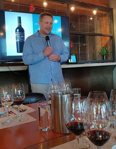 Ross Wise telling us about the Black Hills Estate wines