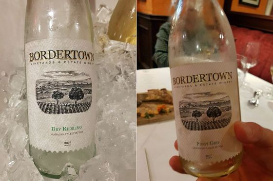 Bordertown Dry Riesling 2018 and Pinot Gris 2017